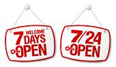 7 Días abierto sistema de signos