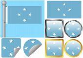 Flag Set Federated States of Micronesia