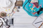 Travel Plan, Trip Vacation Accessories For Trip, Tourism Mockup poster
