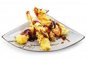 Japan Plate of Shrimp Fried in Tempura Pastry