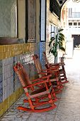 Red Rocking Chairs