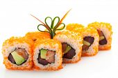 picture of masago  - Maki Sushi with Masago   - JPG