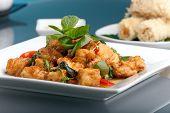 Comida tailandesa e aperitivos