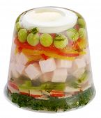 Ham and Vegetable Salad in Aspic