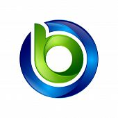3d B Letter Logo Design Vector Illustration Logo Set, B Letter Logo Vector, Letter B Logo Vector, Cr poster