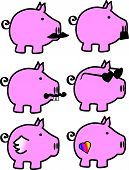 Collection of Pink Piggies Pigs