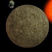 Постер, плакат: Солнечная система Меркурий