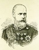 Porträt von Prinz Wilhelm. Illustration von Alwin Zschiesche, veröffentlicht am