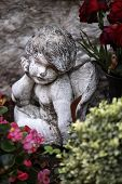 Small Stone Angel On A Grave