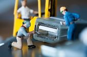 Miniature Artisans Doing Maintenance