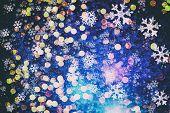 Bokeh Christmas Circular Lighting Celebrating New Year Abstract poster
