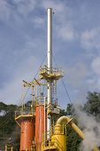 foto of biogas  - Steam Rises From A Smokestack On a Factory - JPG