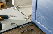 Furniture Canopies Can Be Screwed With Screws To The Closet Door, Close-up poster