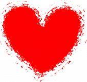 Grunge Heart Background (frame, Border)