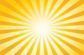 pic of sun rays  - Sunburst vector background - JPG