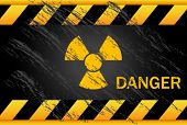 stock photo of nuclear bomb  - Nuclear Danger Background - JPG