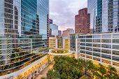 Houston, Texas, USA downtown cityscape at dusk. poster