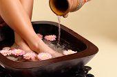 Relajante baño de pie