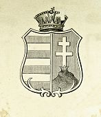 Wappen des Königreichs Ungarn. Illustration von Alwin Zschiesche, veröffentlicht auf