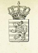Wappen von Luxemburg. Illustration von Alwin Zschiesche, veröffentlicht am