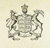 Wappen des Königreichs württemberg. Illustration von Alwin Zschiesche, veröffentlicht am
