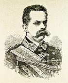 Porträt von König von Italien Humbert i. Illustration von Alwin Zschiesche, veröffentlicht am