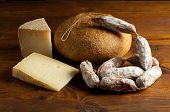 image of charcuterie  - cheese and bread - JPG