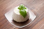dish with ricotta and basil