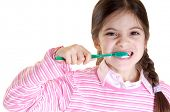 child teeth washing copy space