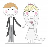 just married cartoons