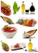 collage of ingredients and condiments
