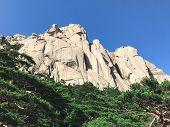 Beautiful Mountain Landscape In Seoraksan National Park, South Korea poster