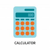 Calculator Icon Isolated On White Background. Calculator Icon Simple Sign. Calculator Icon Trendy An poster