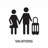 Vacations Icon Isolated On White Background. Vacations Icon Simple Sign. Vacations Icon Trendy And M poster