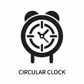 Circular Clock Icon Isolated On White Background. Circular Clock Icon Simple Sign. Circular Clock Ic poster