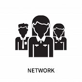 Network Icon Isolated On White Background. Network Icon Simple Sign. Network Icon Trendy And Modern  poster