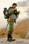 Tourist-Photographer. Kamchatka poster
