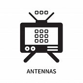Antennas Icon Isolated On White Background. Antennas Icon Simple Sign. Antennas Icon Trendy And Mode poster