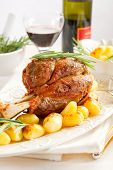 veal shank with potatoes