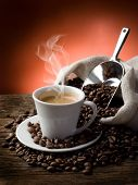 picture of coffee-cup  - hot  coffee - JPG