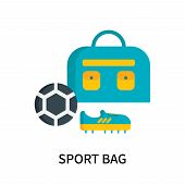 Sport Bag Icon Isolated On White Background. Sport Bag Icon Simple Sign. Sport Bag Icon Trendy And M poster