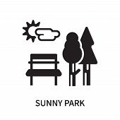 Sunny Park Icon Isolated On White Background. Sunny Park Icon Simple Sign. Sunny Park Icon Trendy An poster