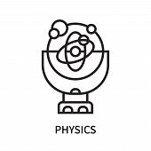 Physics Icon Isolated On White Background. Physics Icon Simple Sign. Physics Icon Trendy And Modern  poster
