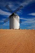 Spain, windmills in Campo de Criptana, the giants of Quixote novel