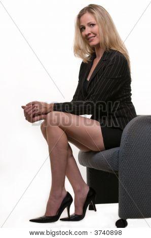 Woman With Long Leg Short Skirt 99