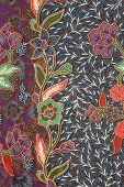 Dark Purple Floral Batik Sarong