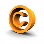 Copyright Symbol 3D