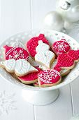 stock photo of christmas theme  - Cookies decorated with a Christmas theme - JPG