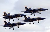 Blue Angels With Wheels Down