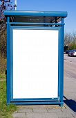 Bus Stop With Blank Bilboard